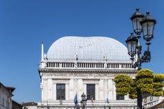 La Loggia. The Town Hall of Brescia. Italy stock image