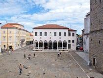 La logia de la ciudad en Koper, Eslovenia Imagen de archivo libre de regalías