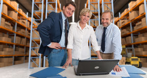 La logistica team la a Fotografie Stock
