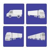 La logistica trasporta l'insieme su autocarro Immagini Stock Libere da Diritti