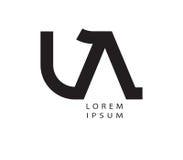 LA Logo Design Stock Photo