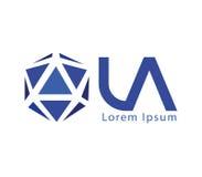 LA Logo Design Concept Images libres de droits