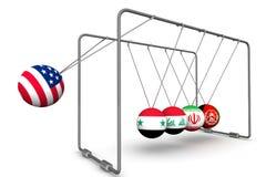 La loi de la rétroactivité des sanctions dans la géopolitique Le concept Photo stock