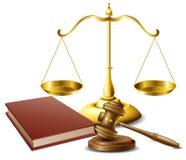 La loi a rapporté l'ensemble d'objet illustration de vecteur