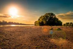 La Loire au sushine photographie stock libre de droits
