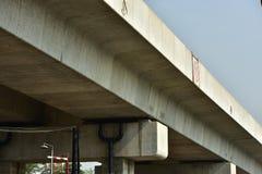 La longitud de la pista ferroviaria Imagen de archivo