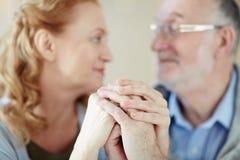 La longue et heureuse vie vivante dans le mariage Images stock