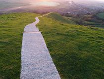 La longue promenade Image libre de droits
