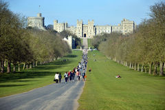La longue promenade, Windsor Great Park, Angleterre, R-U Photos stock