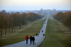 La longue promenade, Windsor Great Park, Angleterre, R-U Photographie stock