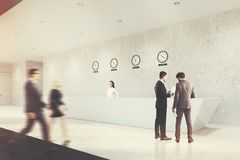 La longue réception, horloges, acculent modifié la tonalité Photo stock