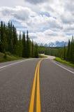 La longue route Images libres de droits