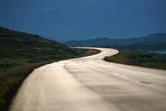 La longue route Photos libres de droits