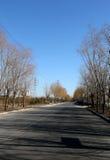 La longue route Images stock