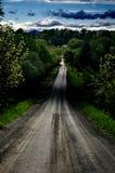 La longue route en avant Photographie stock