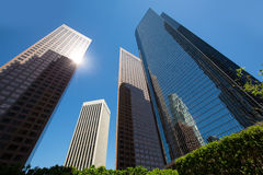LA Los angeles downtown skyscrapers buildings Royalty Free Stock Photos