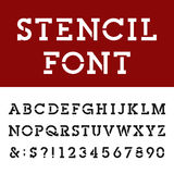 La losa Serif Alphabet Vector Font de la plantilla Stock de ilustración