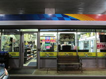 La lotería firma adentro NJ con los botes mostrados Powerball $188.000.000, Megamillion $253.000.000, loteria $4.600.000 de la se Foto de archivo libre de regalías