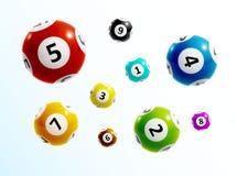 La loterie de boule numérote 3d illustration stock