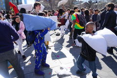 La lotta di cuscino di 2015 NYC 118 Fotografie Stock Libere da Diritti