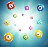 La lotteria della palla numera 3d Immagine Stock Libera da Diritti