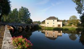 La Loue Coulaures France de fleuve Image stock