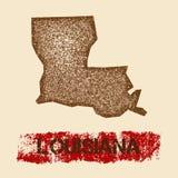 La Louisiane a affligé la carte illustration libre de droits