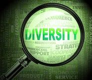 La loupe de diversité montre le rendu de Mixed Bag 3d illustration libre de droits