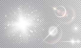 La luce bianca effettua l'insieme cosmico Immagine Stock