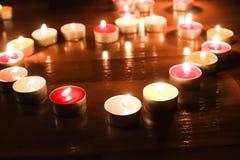La luce dalle candele Fotografia Stock Libera da Diritti