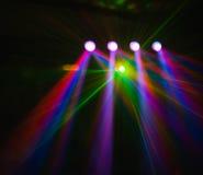 La luce del club della discoteca di colore con gli effetti ed il laser mostrano Immagine Stock