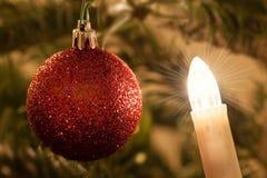 La luce del Natale Fotografia Stock