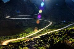 La luce della montagna fotografia stock libera da diritti