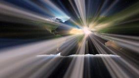 La luce di Islam sopra il mondo Fotografie Stock Libere da Diritti