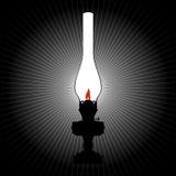 La luce di una lampada di cherosene Fotografia Stock Libera da Diritti