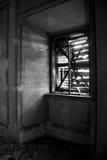 La luce ha schiantato la finestra Immagine Stock Libera da Diritti