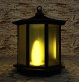 La luce nell'oscurità in 3D rende l'immagine Fotografia Stock