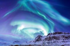 La luce nordica Aurora Iceland Fotografia Stock Libera da Diritti