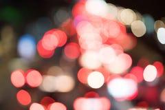 La luce rossa Bokeh Fotografia Stock