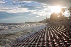 La luce solare versa attraverso le nuvole nel Vietnam immagini stock libere da diritti