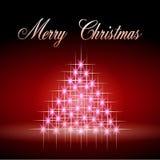 La luce stars l'albero di Natale Fotografia Stock Libera da Diritti