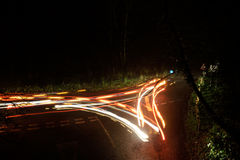 La luce trascina il cerchio Fotografie Stock