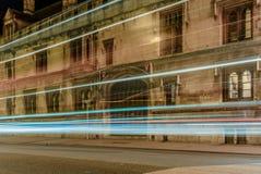 La luce trascina sulle vie di Oxford - 1 Immagine Stock Libera da Diritti