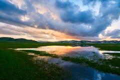 La lueur de coucher du soleil Photos stock