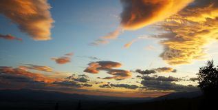 La lueur du coucher du soleil Photographie stock