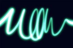 La lueur futuriste au néon forme le fond Papier peint avec des lignes Illustration d'ENV illustration de vecteur
