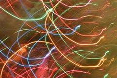 La lumière abstraite traîne des couleurs d'arc-en-ciel Images libres de droits