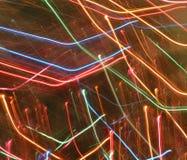 La lumière abstraite traîne des couleurs d'arc-en-ciel Image libre de droits