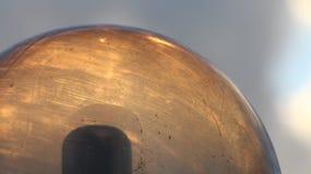La lumière de coucher du soleil sature un dôme léger images stock
