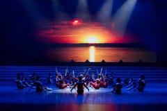La lumière de matin de la danse monter-moderne prélude-jeune Photo libre de droits